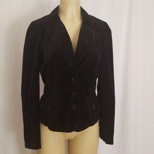 Ann Taylor Loft Velour blazer black Sz 8